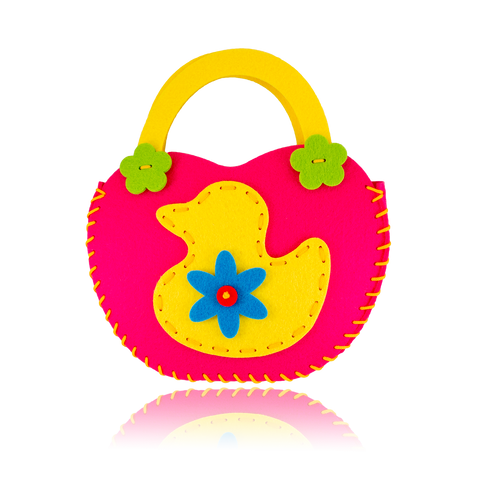 DIY Duck Design Pink Purse