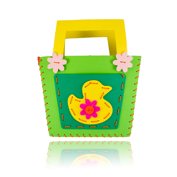 DIY Duck Design Green Purse