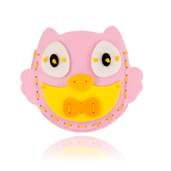 DIY Owl Design Pink Purse