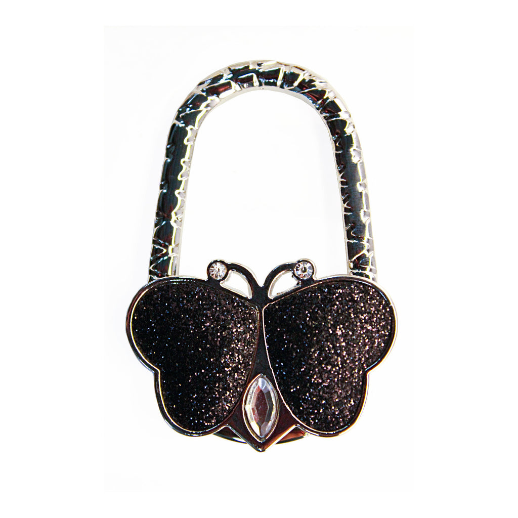 Black Glitter Butterfly Bag or Purse Hanger