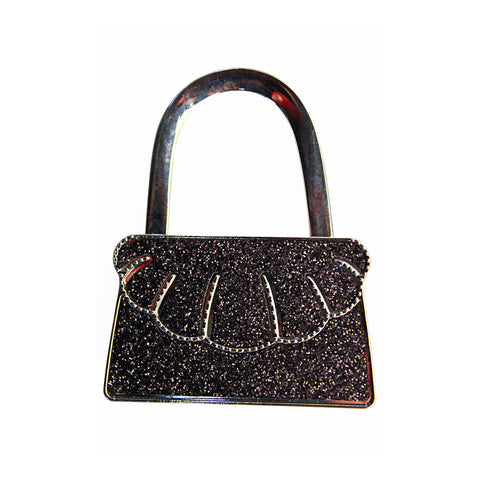 Black Glitter Purse Bag Hanger
