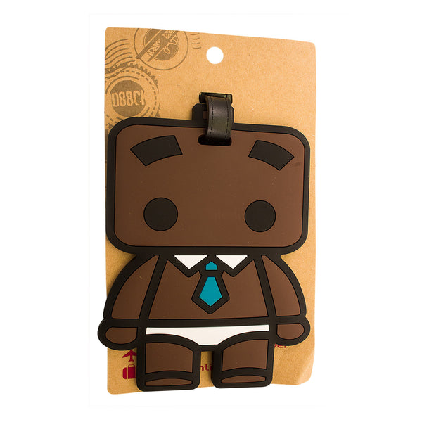 Cartoon Kid w/ Tie Design Luggage Tag (Comes in packs of 12 - $2.50 each)