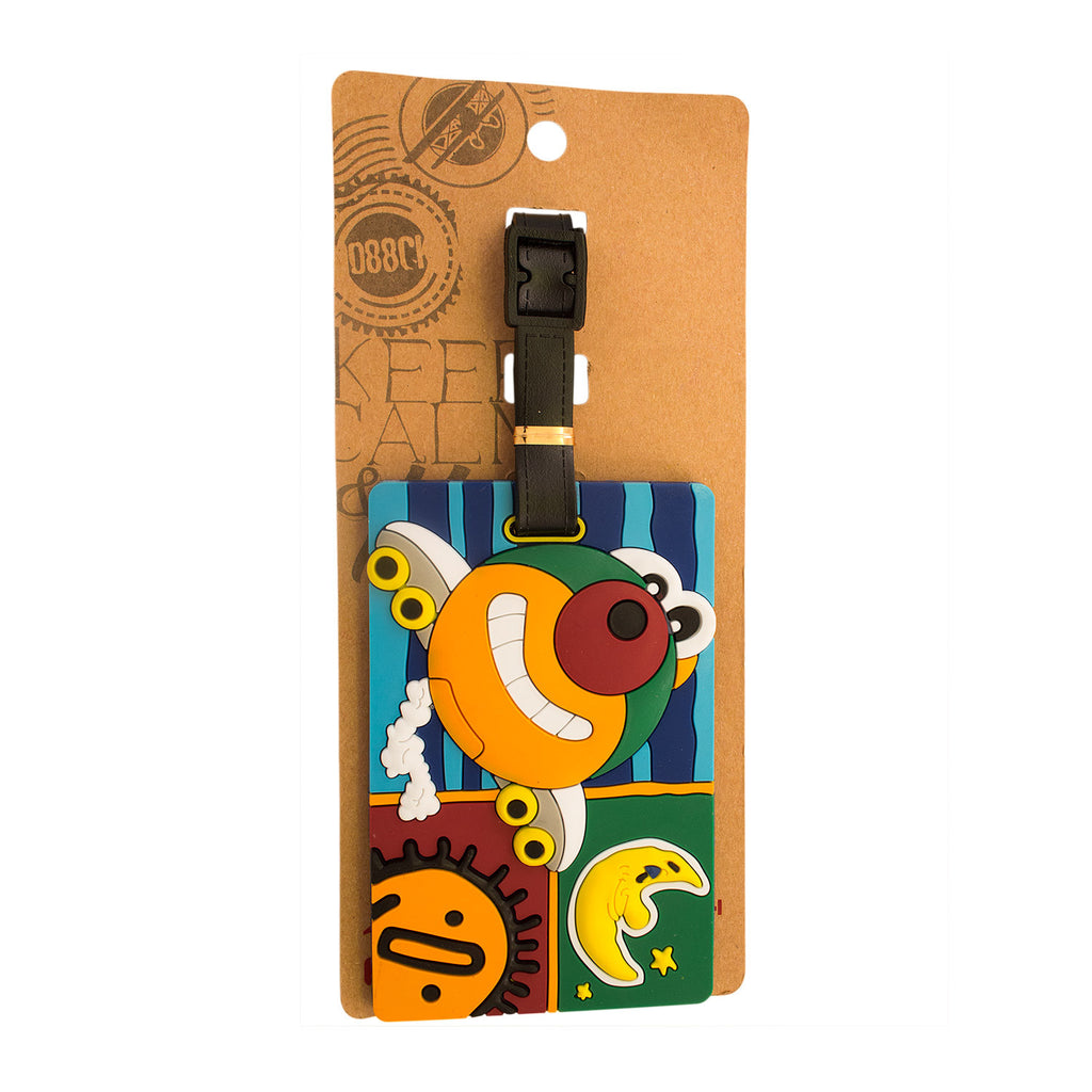 Happy Airplane Design Luggage Tag (Comes in packs of 12 - $2.50 each)