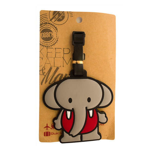 Cartoon Elephant Design Luggage Tag (Comes in packs of 12 - $2.50 each)