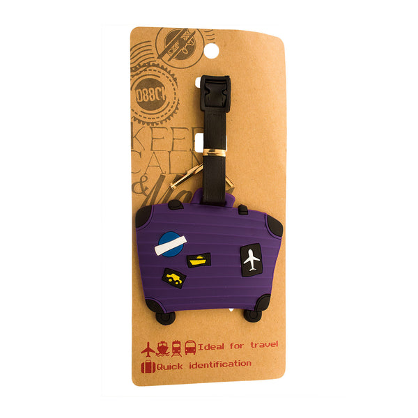 DIY Purple Luggage Case Design Luggage Tag (Comes in packs of 12 - $2.50 each)