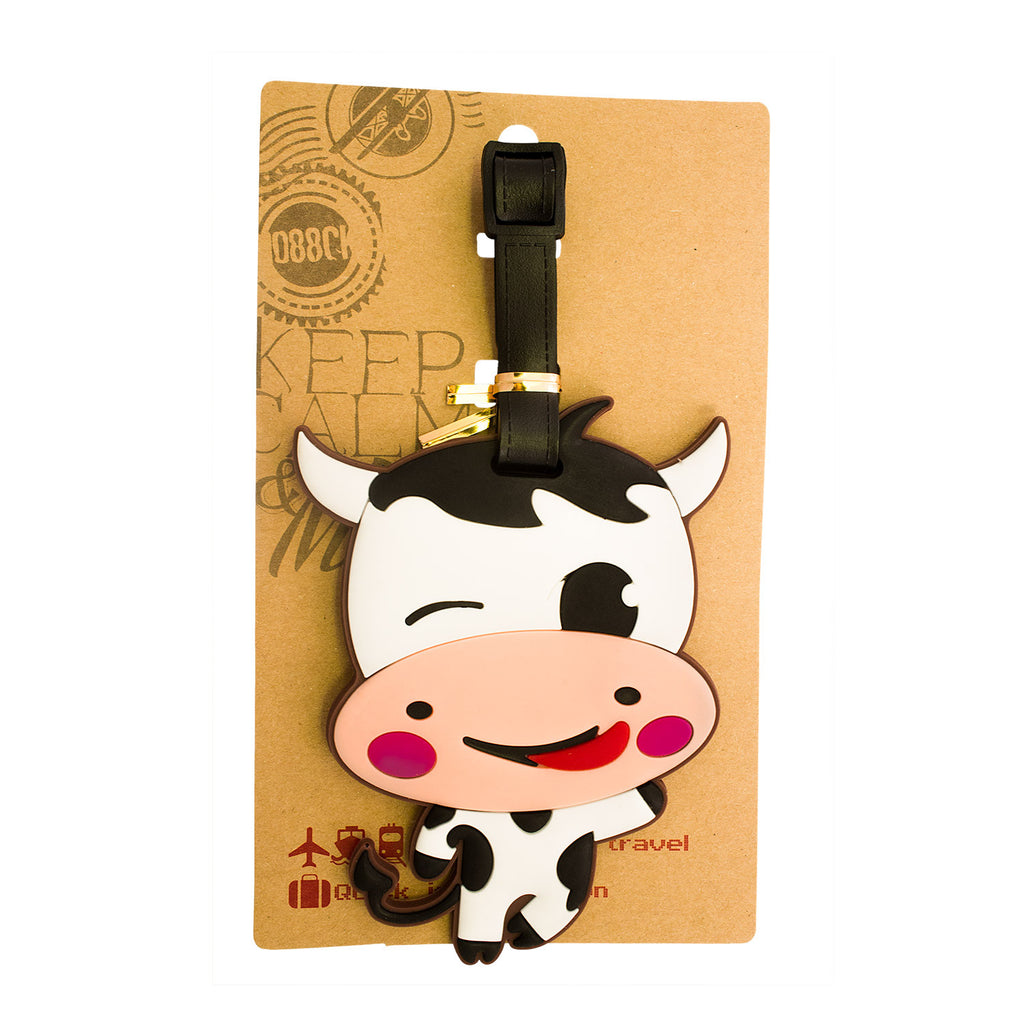 Happy Cow Luggage Tag (Comes in packs of 12 - $2.50 each)