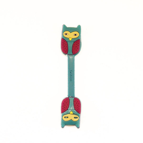 Blue and Burgundy Owl Earphone Tie ($0.50)