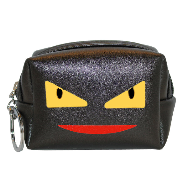 Black Face Coin Pouch Wallet