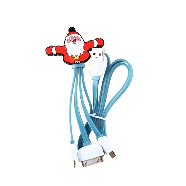Santa Clause 3 in 1 USB Cable