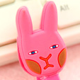 Pink Rabbit Earphone Tie