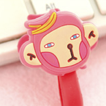 Pink Monkey Earphone Tie
