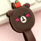 Brown Teddy Bear Earphone Tie