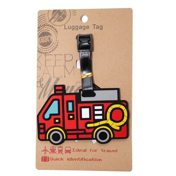 DIY Red Fire Truck Engine Luggage Tag (Comes in packs of 12 - $2.50 each)
