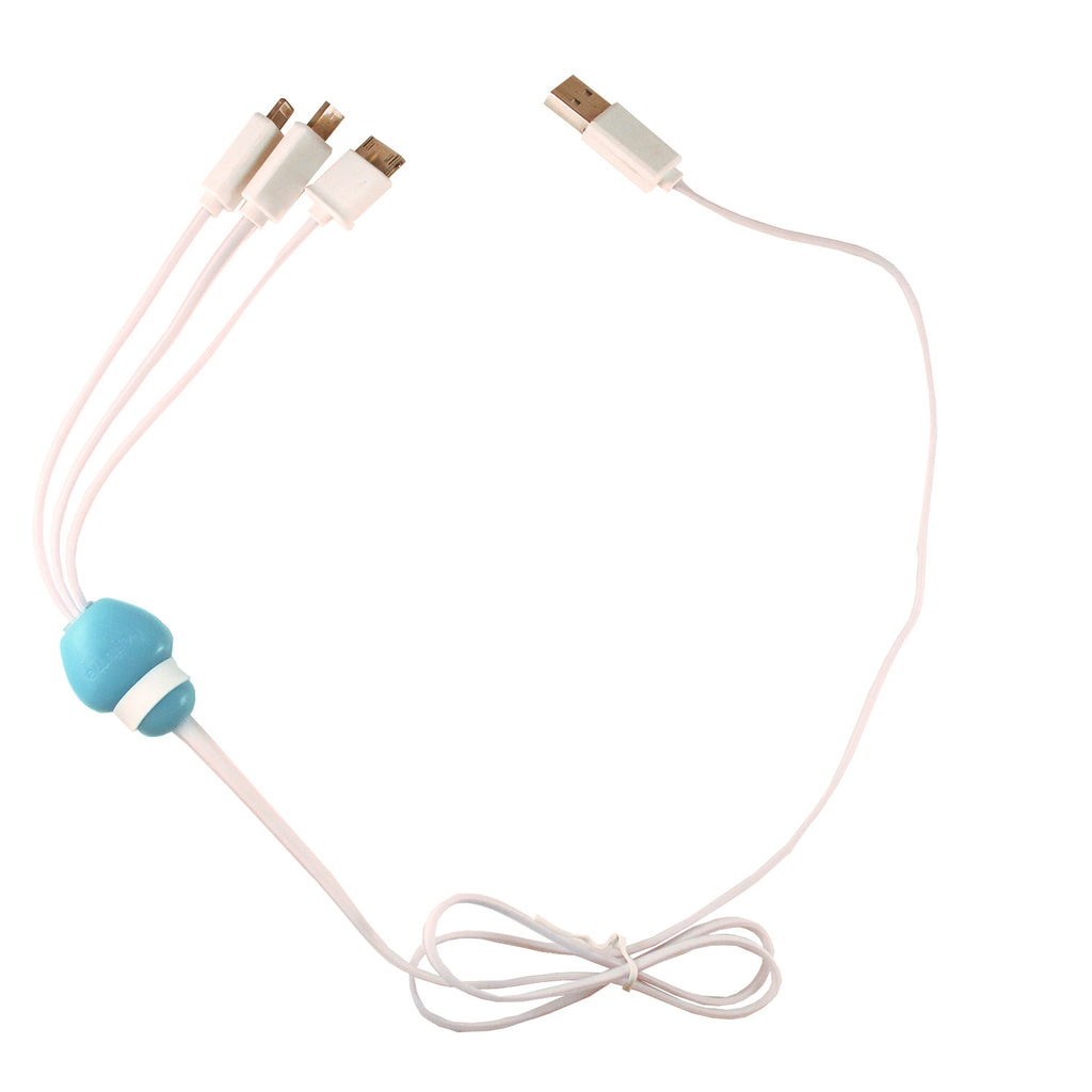 White 3 in 1 USB Cable