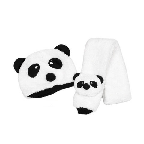Baby Panda Fleece Hat & Scarf for Toddlers