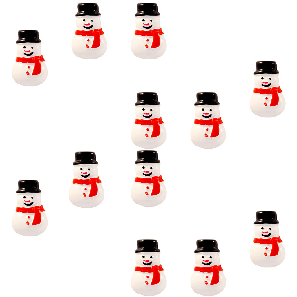 DIY Snow man Design Black Resin Cabochon ($0.25 each)