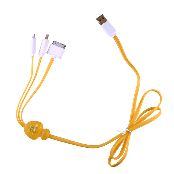 Yellow 3 in 1 USB Cable
