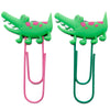 Crocodile Alligator PVC Bookmark Paper Clip