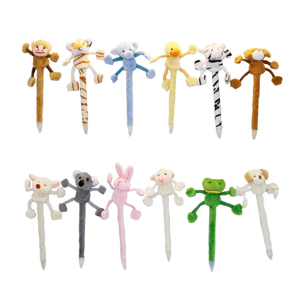 Animal Plush Pens Pack