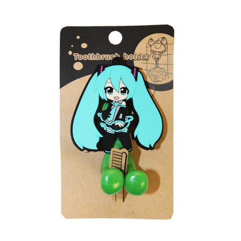 Blue Anime Girl PVC Toothbrush Holder