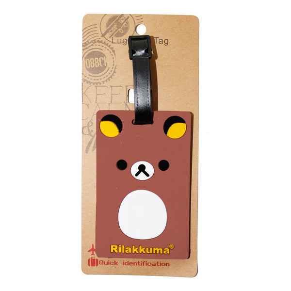 Brown Riku Bear Large Luggage Tag (Comes in packs of 12 - $2.50 each)