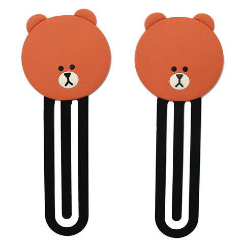 Brown Bear PVC Bookmark Paper Clip