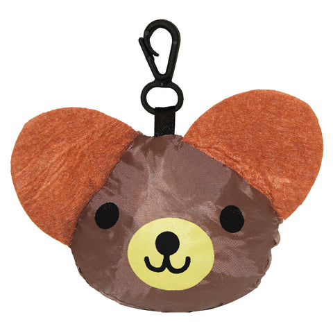 Brown Bear Foldable Shopping Bag