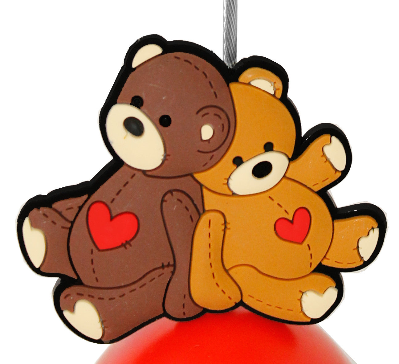 Twin Teddy Bear with Heart Photo Holder Business Card Clip Hanger ...