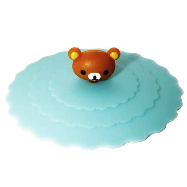 Young Bear Blue Suction Cup Lid Mug Cover