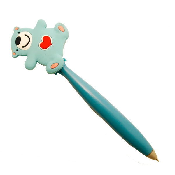 Blue Bear with Red Heart PVC Ballpoint Pen