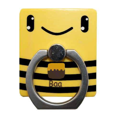 Yellow Bee Phone Ring Holder Stand
