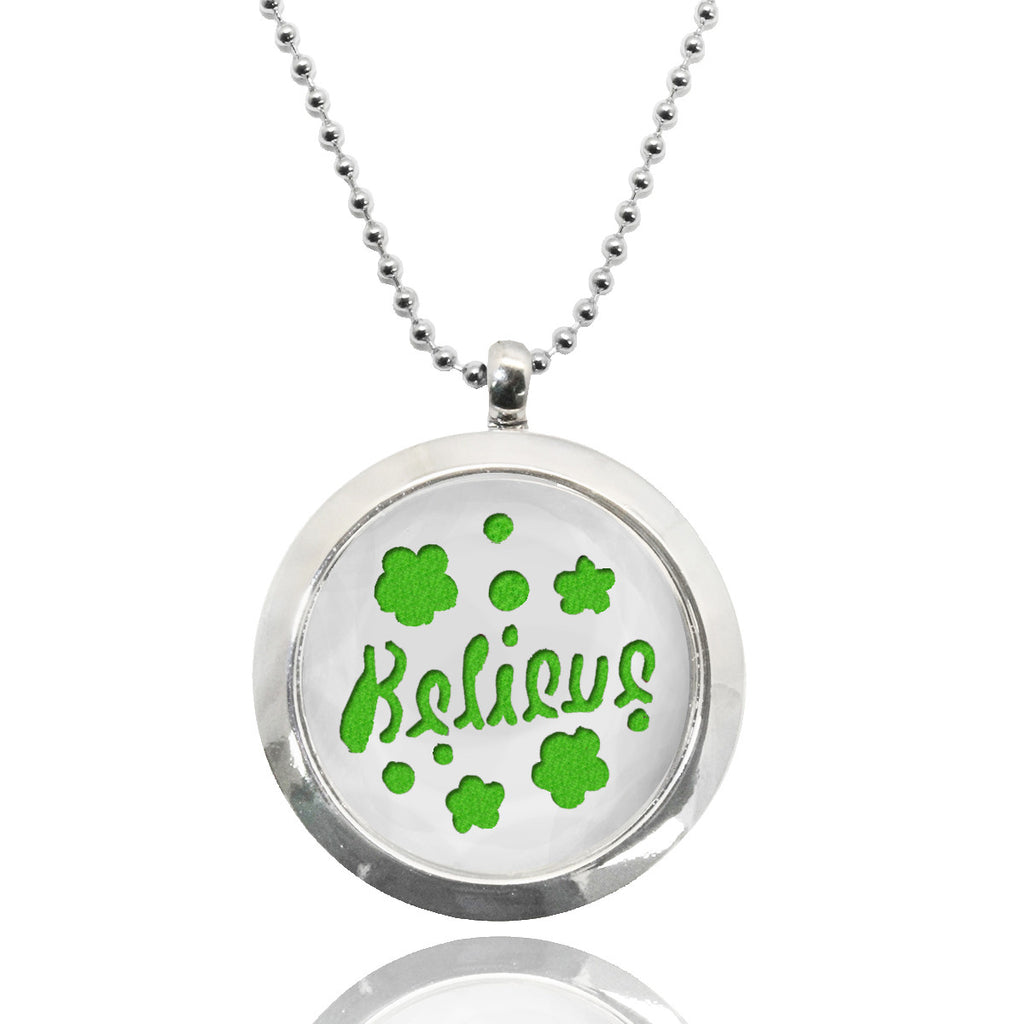 Believe Stainless Steel Locket Essential Oil Necklace