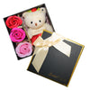 Red Plush Bear Valentine's Gift Box w/ Soap Flowers