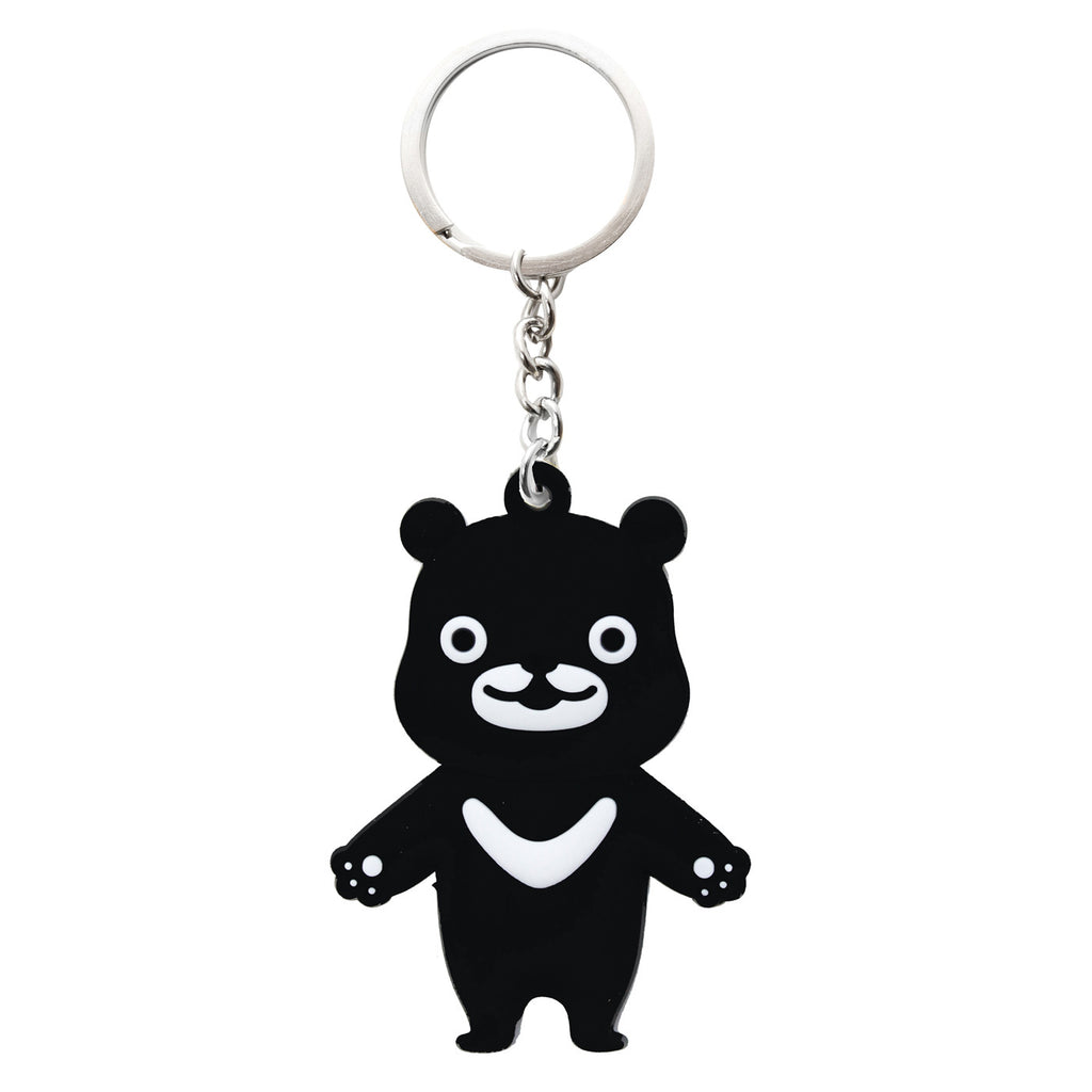 Black Bear PVC Key Chain