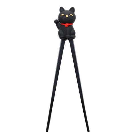 Black Chinese Lucky Cat Chopsticks