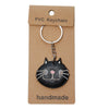 Black Cat PVC Key Chain
