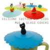 Black Cat Suction Cup Lid Mug Cover