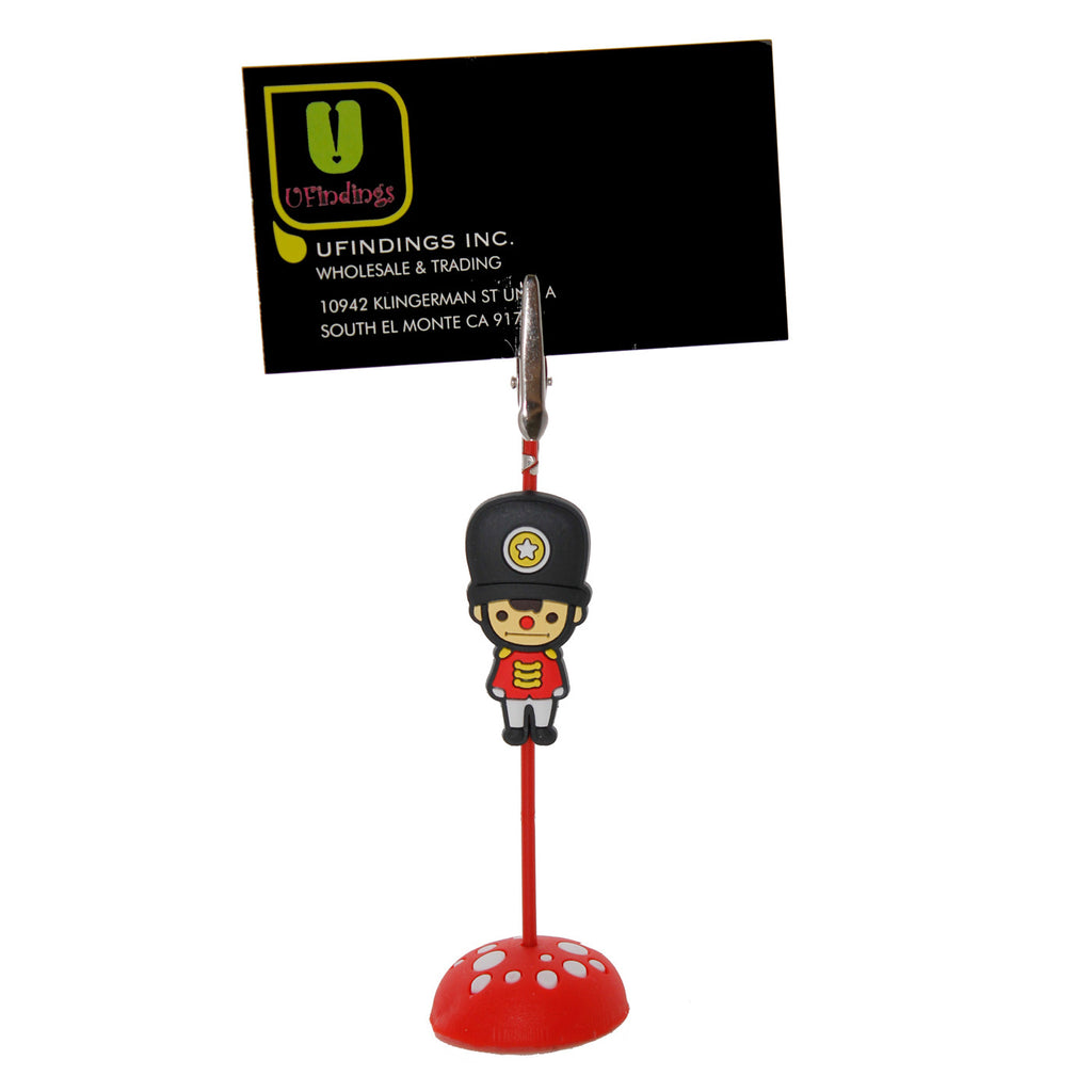 British Soldier Guard with Black Hat PVC Photo Holder Business Card Clip Hanger