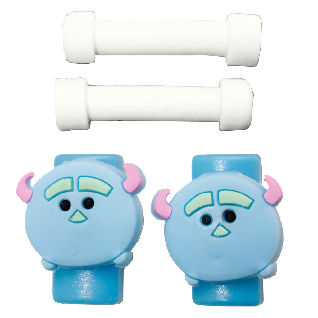 Blue Head Cute Mobile Phone Cable Protector Earphone Cover