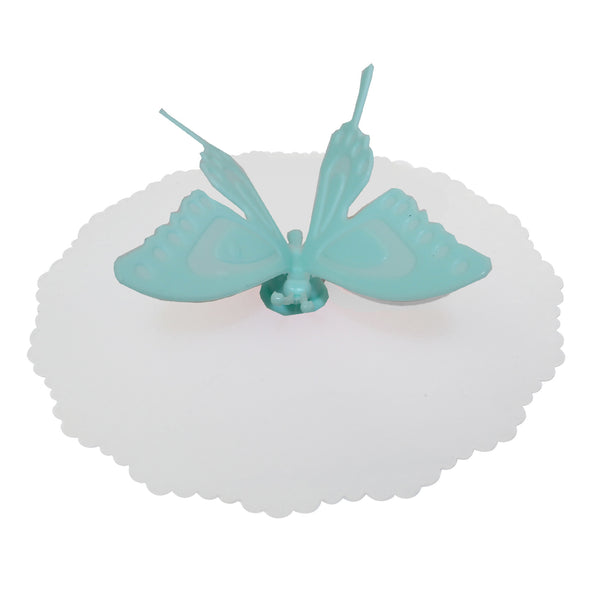 Blue Butterfly Suction Cup Lid Mug Cover