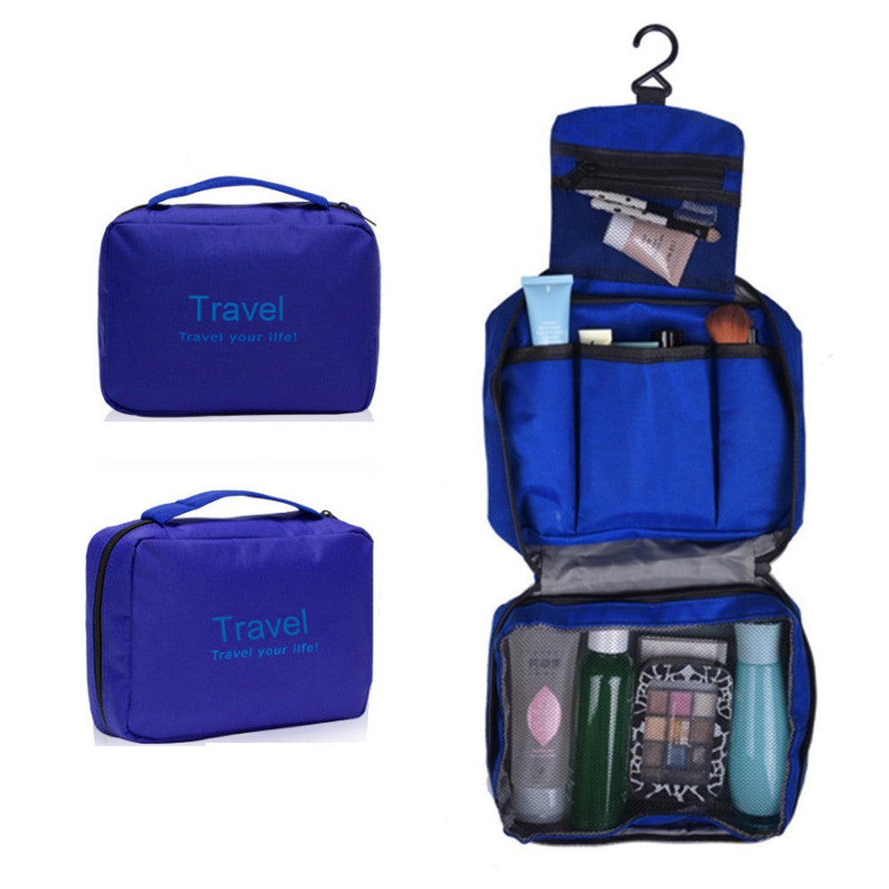 Blue Travel Your Life Organizer Kit Pouch Bag