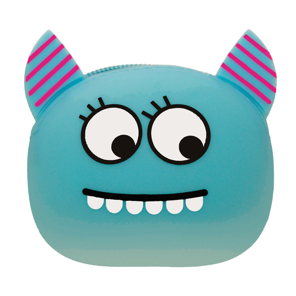 Blue Devil Smiley Cartoon Silicone Rubber Coin Purse