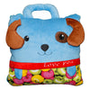 Blue Dog Love You Puppy Cushion 2-in-1 Travel Pillow Converts into Blanket