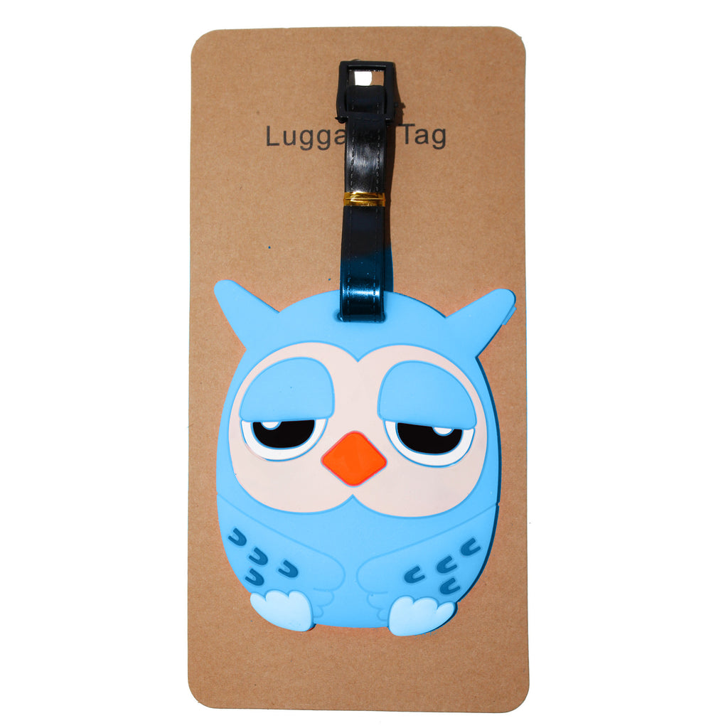 Light Blue Owl Luggage Tag (Comes in packs of 12 - $2.50 each)