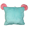 Blue Elephant Soft Plush 3-in-1 Travel Pillow Hand Warmer w/ Blanket