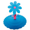 Blue Flower Suction Cup Lid Mud Cover