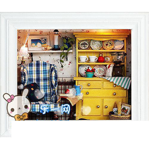 Blue Bedroom Doll House