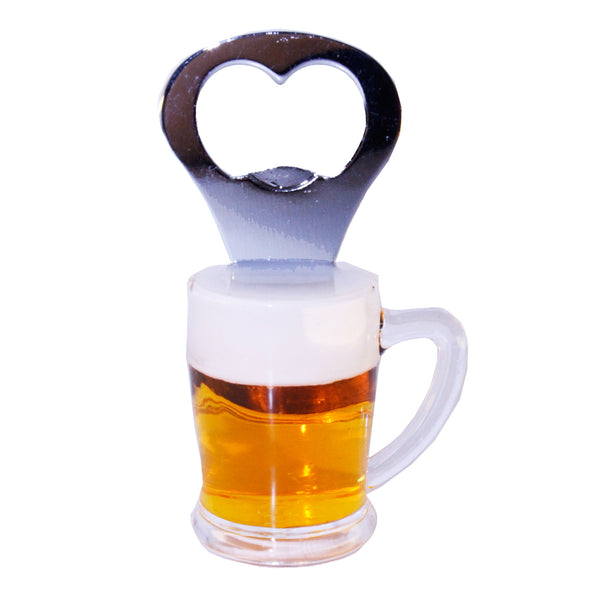 Miniature Beer Mug Glass Bottle Opener Fridge Magnet