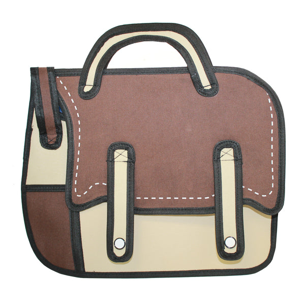 3D Shoulder Bag Brown Design