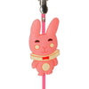 Pink Bunny Rabbit PVC Photo Holder Business Card Clip Hanger